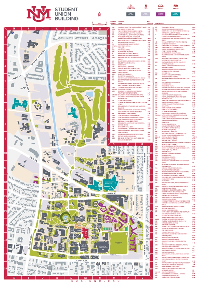 Maps :: Student Union Building | The University of New Mexico